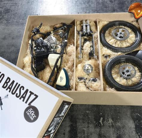 50ccm Motorrad Bausatz by Bike Zum Selberbasteln Liberta Chopper Kommt Als Bausatz