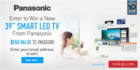 Tv Sweepstakes 2014 - panasonic smart led tv giveaway enter online sweeps