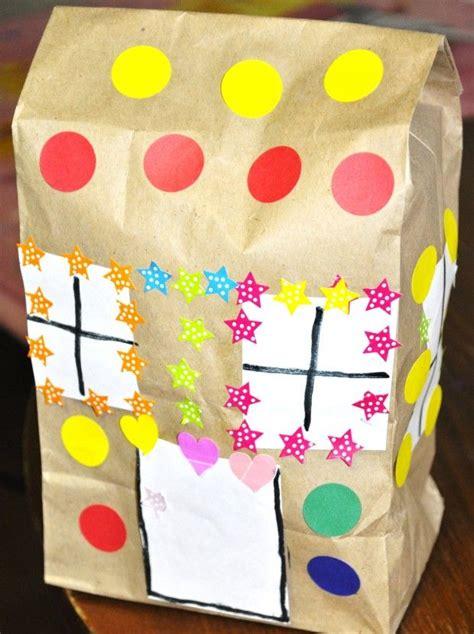 paper bag gingerbread house craft paper bag crafts