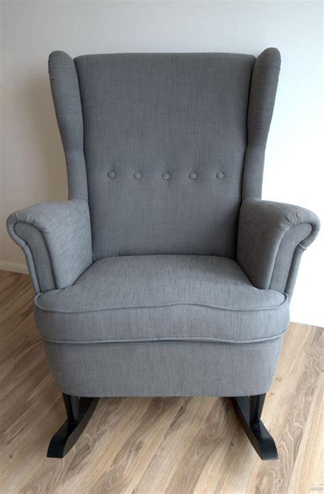 ikea hack strandmon rocker diy wingback rocking chair  images wingback rocking chair