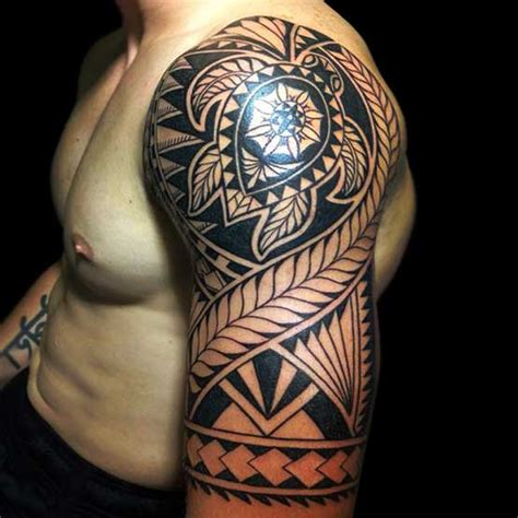 tribal quarter sleeve tattoo designs maori tribal tattoos cool tribal tattoo male models picture