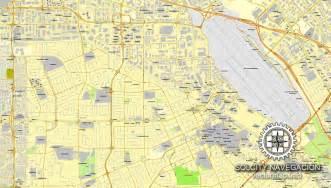 san jose city map pdf san jose california us printable vector city plan map editable adobe pdf