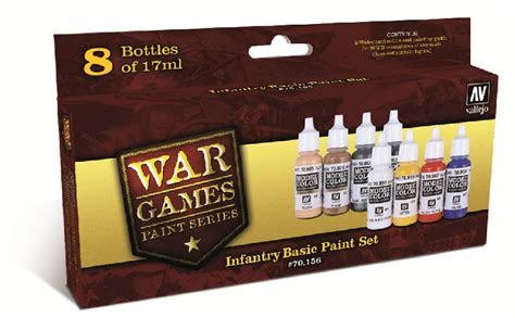 vallejo paints 17ml bottle infantry basic wwii wargames