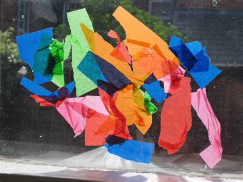 Tissue Paper Suncatcher Craft - tissue paper suncatchers nurturestore
