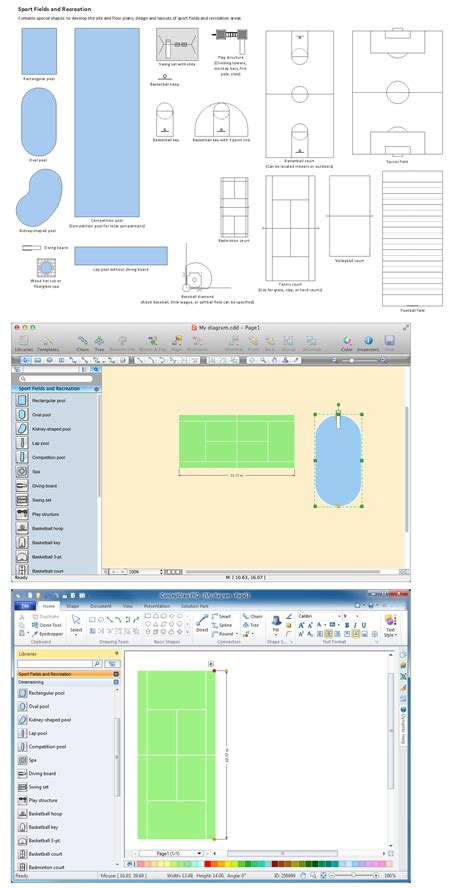 layout artist software building drawing tools design element sport fields
