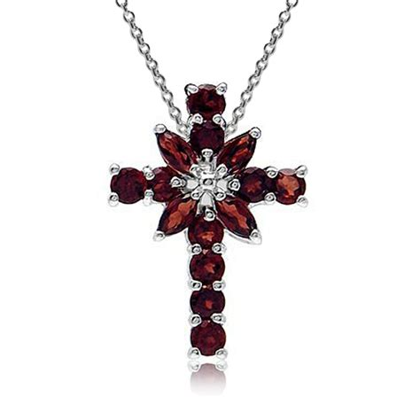Murah Necklace Kalung Silver Cross gemstone 925 sterling silver cross pendant w 18 quot chain necklace ebay