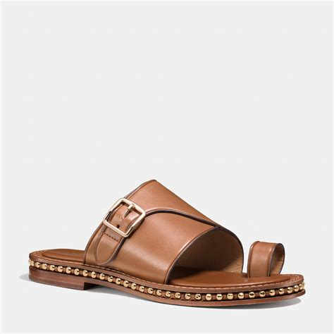 sandal shoe lyst coach sandal in brown