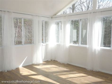 sunroom curtain ideas inexpensive way to hang curtains how to repurposing