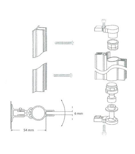 cerniere box doccia profilo cerniera con alzata in apertura per porta box