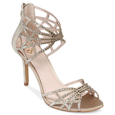 vince camuto silver sandals vince camuto wari evening sandals in silver glitter taupe