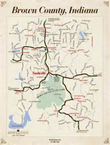 Brown County State Park Map by Covered Bridges Brown County Indiana