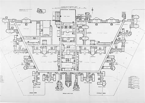 plan design file claybury asylum ground floor plan wellcome l0023315