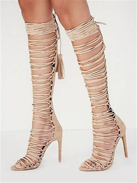 this summer the high heel of gladiator sandals is