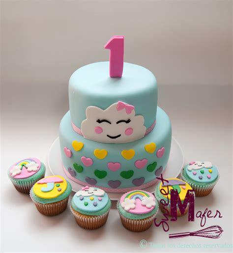 imagenes de tortas kawaii torta y cupcakes nubes kawaii