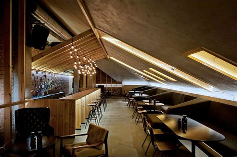 booth design bar ravishing attic bar blends rustic textures with