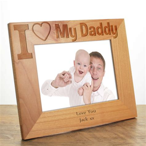 Personalised Vase I Love My Daddy Photo Frame Father S Day Gift For Dad