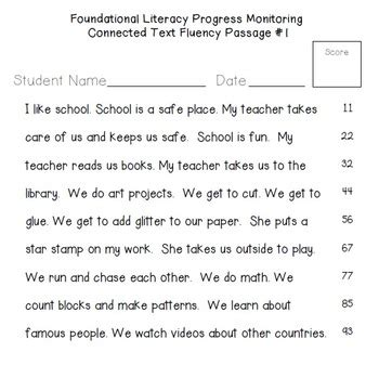 printable leveled reading fluency passages rti 60 fluency passages for progress monitoring reading