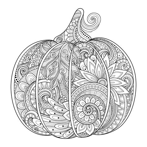 detailed pumpkin coloring pages detailed coloring pages for adults coloring home