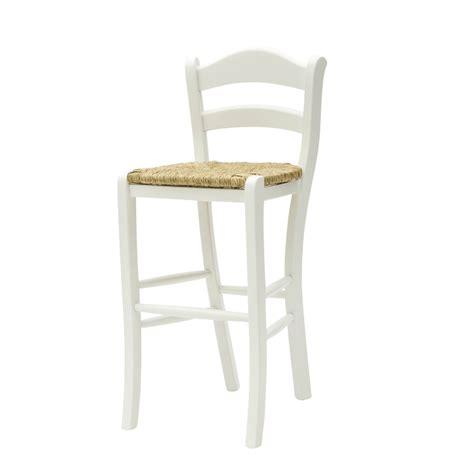 sgabelli country sgabello alto country in legno laccato bianco con seduta