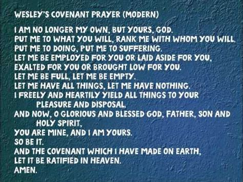 methodist prayer wesley s covenant prayer modern