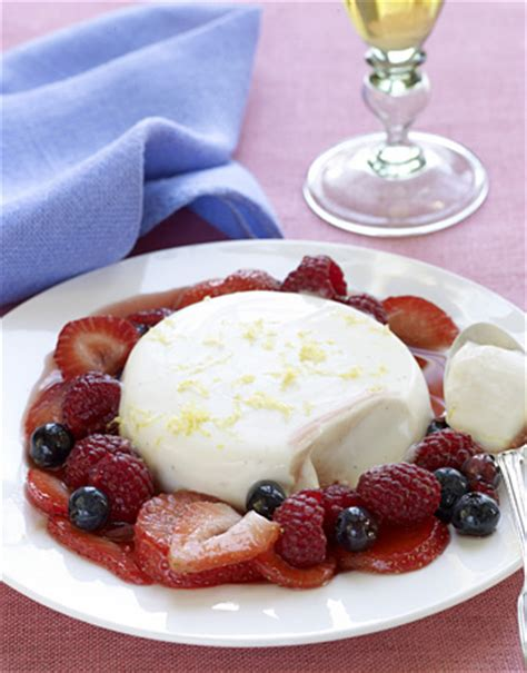 ina garten dessert recipe panna cotta with balsamic