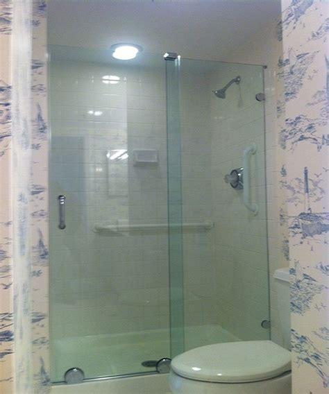 Sliding Bypass Shower Doors Bypass Sliding Shower Doors Modern Glass Designs