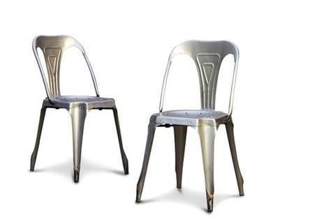 chaise acier chaise industrielle multipl s finition acier bross 233 e pib