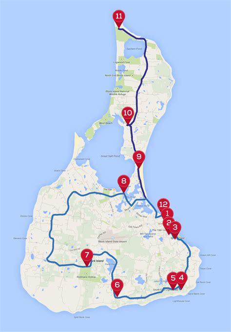 block island map block island bicycle tour sonew
