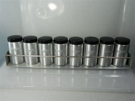 Aluminum Spice Rack by Vintage Aluminum Spice Rack And Bottles Hellerware