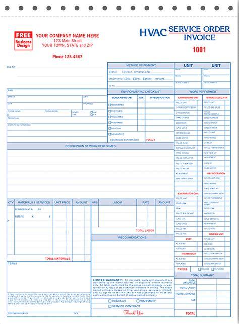 hvac service order invoice template hvac service order invoice robinhobbs info