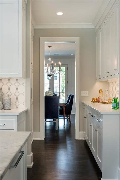 benjamin simply white cabinets kitchen with pale gray walls framing white cabinets