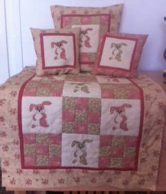 rabbit patchwork baby quilt 3032 stall craft collective