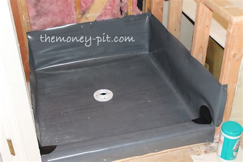 How To Install A Shower Pan Liner by Master Bathroom Days 8 10 Shower Walls And Shower