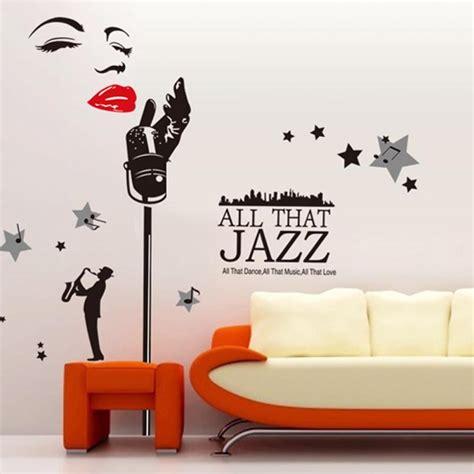 jazz group concert decal musicians wall decals home art music wall sticker jazz singer monroe wall stickers
