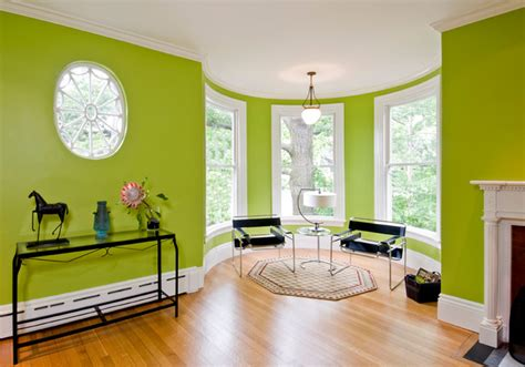 Bright Green Living Room Bright Green Living Room Eclectic Living Room Boston