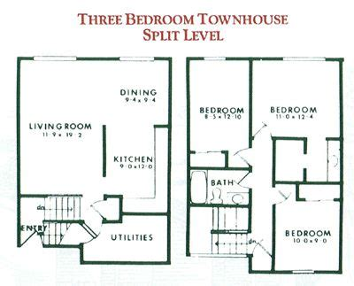 Townhome Plans 3 Bedroom Townhouse Plan Design Shown Represents The