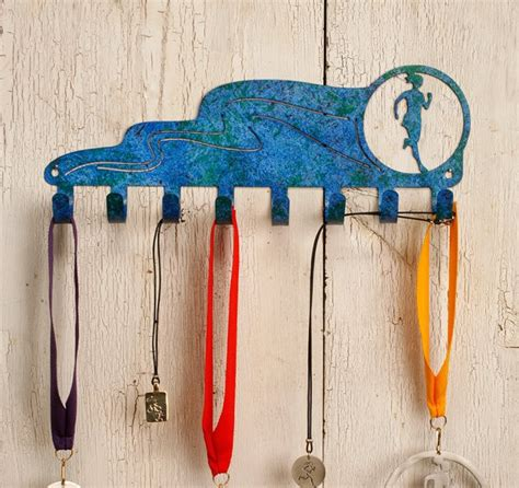 Runners Medal Display Rack by Running Marathon Runner Race Medal Display Rack 3011