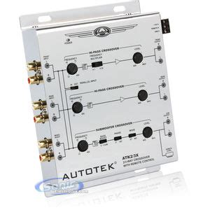 Box 3 Way Professional Active Crossover open box complete autotek atk2 3x 2 way or 3 way active crossover w subwoofer input