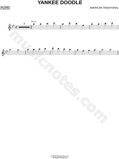 free yankee doodle sheet for flute traditional quot yankee doodle flute quot sheet flute