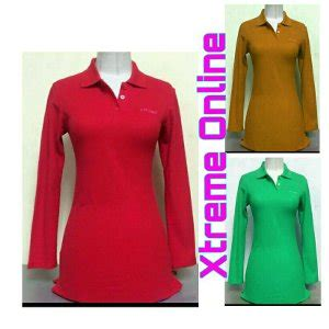 Polo Shirt Cewek Tangan Panjang Pq Lacoste 2 jual kaos polos murah lengan panjang warna merah bata buat wanita baru kaos polo shirt wanita