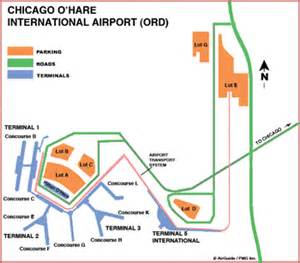 Chicago O Hare Parking Map by Map Chicago Ord Airport Terminal Clinic