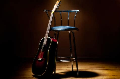 Guitar Stool With Back by Guitar And Stool Photograph By Warren Millar