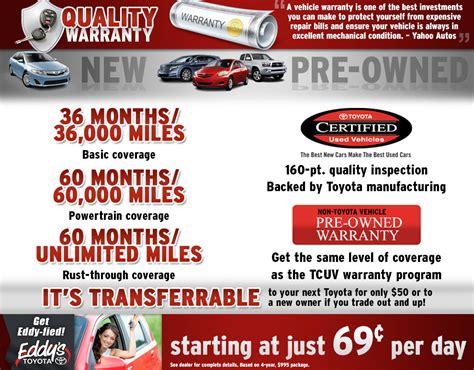 warranty information toyota   vehicle financing