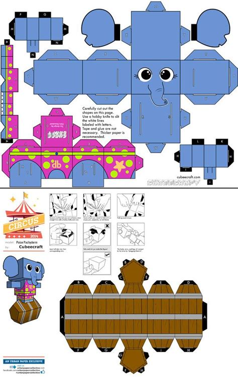 Elephant Paper Craft - 869 elephant paper template el 233 phant de cirque