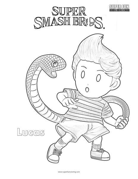 smash bros coloring pages lucas smash brothers coloring page coloring