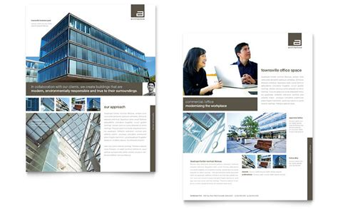 Architect Datasheet Template   Word & Publisher