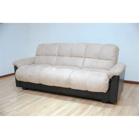 Bed Sofa Walmart Primo Ara Convertible Futon Sofa Bed With Storage Hazelnut Walmart