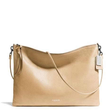 The Coach Bleecker Tattersall Shopping Bag by Coach Bleecker Daily Shoulder Bag In Leather In Brown