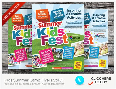 Kids Summer C Flyer Templates By Kinzishots Graphicriver Summer C Brochure Template Free