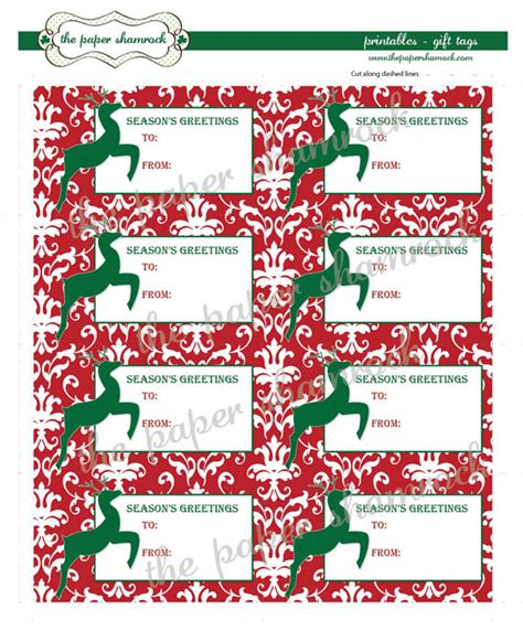 Printable Christmas Bag Tags | 7 best images of gift bag tags printable free printable